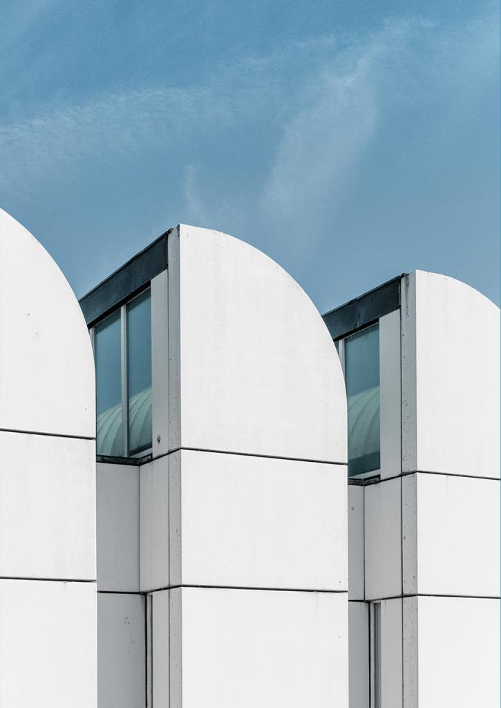 Architecture, Line, Sky, Facade, Material property, Building, House, Glass, Bauhaus Archive, Bauhaus Archive, Bauhaus, Design, Architecture
