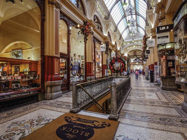 Building, Architecture, Interior design, Urban area, City, Arcade, Shopping mall, Floor, Flooring, The Block Arcade, Shopping Centre, Flinders Street Railway Station