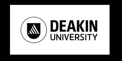 Font, Text, White, Logo, Black, Product, Brand, Trademark, Signage, Graphic design, Banner, Line, Graphics, Design, Illustration, Black-and-white, Photography, Label, Vehicle registration plate, Deakin University, Logo