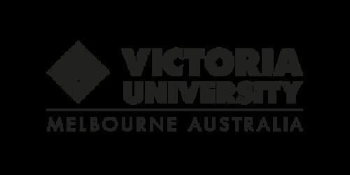 Font, Text, White, Logo, Product, Brand, Line, Graphics, Design, Banner, Trademark, Rectangle, Triangle, Victoria University, Australia, Victoria University, Logo