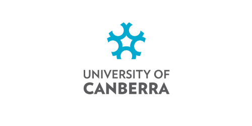 Text, Logo, Font, White, Blue, Green, Aqua, Turquoise, Azure, Brand, Graphic design, Design, Symmetry, Line, Pattern, Illustration, Circle, Graphics, T-shirt, Organism, University of Canberra, Logo, Graphic design