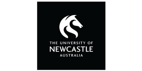 Logo, White, Black, Text, Font, Poster, Brand, Graphics, Trademark, Graphic design, University of Newcastle, University of Newcastle, Logo