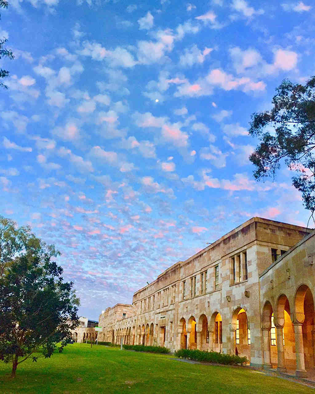 Sky, Building, Property, Cloud, Architecture, Tree, Estate, House, College, City, Stately home, Facade, Mansion, Campus, The University of Queensland, Insight Education Consulting, School
