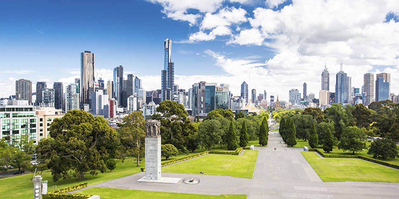 Metropolitan area, Skyline, Cityscape, City, Urban area, Daytime, Skyscraper, Nature, Human settlement, Metropolis, Tower block, Green, Sky, Landmark, Urban design, Downtown, Real estate, Building, Tree, Grass, Melbourne