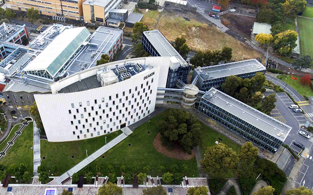 Aerial photography, Bird's-eye view, Architecture, City, Urban design, Building, Metropolitan area, Urban area, Mixed-use, Landscape, Photography, Campus, Headquarters, Deakin University, Deakin University, University, Public university, Higher Education