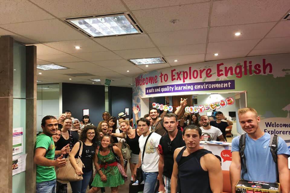Crowd, Product, Event, Community, Shopping mall, Explore English, International English Language Testing System, Language