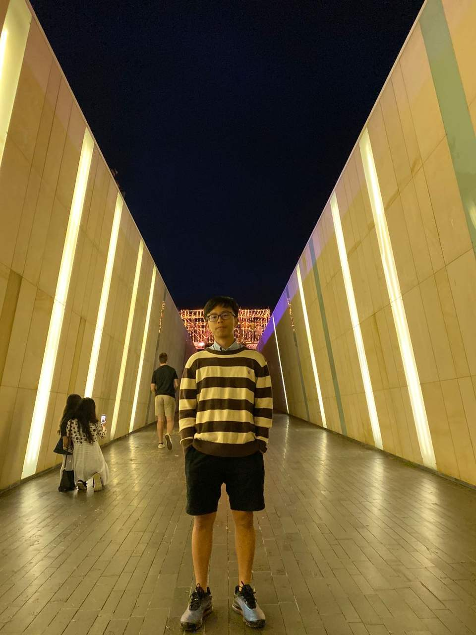 Yellow, Standing, Architecture, Line, Symmetry